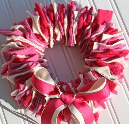 Paint Chip Valentine Wreath Valentine on ETSY!