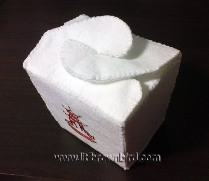 takeout box template. Felt Chinese Take Out Box