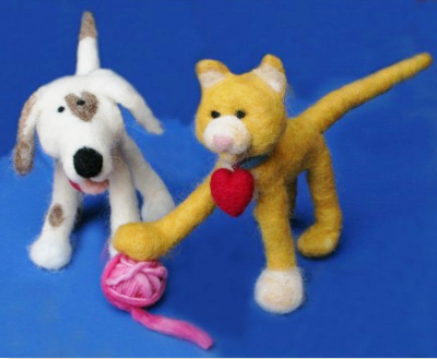 how to make needle felting animal step by step