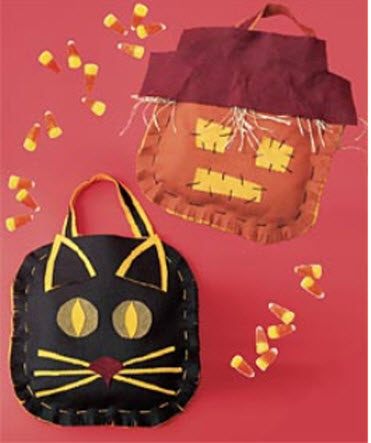 Felt halloween treat bags
