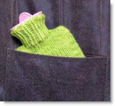 Knitting Wool Heart Hot Water Bottle from Dinodirect.com