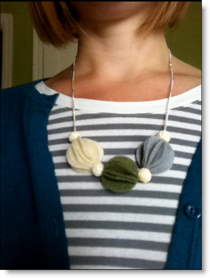 fun felt necklace