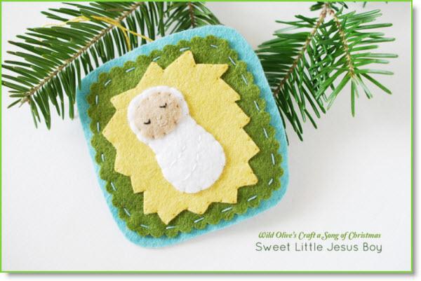 Sweet little Jesus boy felt ornament tutorial